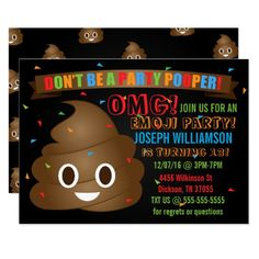472 Best Funny Birthday Party Invitations Images In 2019