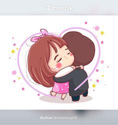 Cute Chibi Couple, Cute Couple Cartoon, Cute Love Cartoons, Wedding Couple Cartoon, Strawberry Moons, Cat Applique, Love Illustration, Doodle, Baby Needs