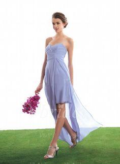 Bridesmaid Dresses - $147.85 - A-Line/Princess Sweetheart Floor-Length Chiffon Bridesmaid Dress With Ruffle (00705005446)
