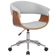 Boost your productivity and spend the workday in ease with the Atrium Adjustable Office Chair from Porthos Home. With its soft, comfortable polyurethane leather seat, adjustable height, caster wheels,