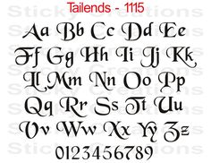 Details about #1115 CUSTOM LETTERING Fancy Vinyl Decal Window Graphic ...