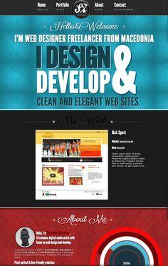 http://szdravkov.com/ - beautiful single page design