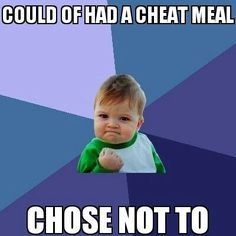"""When you stay strong through a """"cheat day"""". #joke #fitness"""