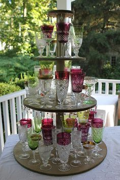 Romancing The Home: Wedding Reception Collection Of Vintage Flash Glass  Stem Glasses. Wedding Reception At HomeReception IdeasJewelry ...