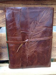Feather Brown Leather Journal