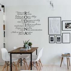 HOUSEDECOR.CZ - SAMOLEPKY NA ZEĎ - Texty a citáty - Rodinka Interior Architecture, Interior And Exterior, Diy And Crafts, The Originals, House, Inspiration, Furniture, Design, Home Decor