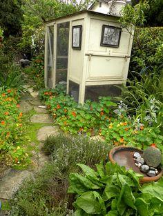 Beautiful garden space with coop
