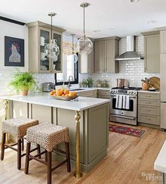 Marvelous Ideas: Country Kitchen Remodel Bricks u shaped kitchen remodel countertops.Kitchen Remodel On A Budget Narrow kitchen remodel modern granite.Kitchen Remodel Tips Pictures. Beautiful Kitchens, Cool Kitchens, Small Kitchens, Galley Kitchens, Beautiful Kitchen Designs, White Kitchens, Home Renovation, Home Remodeling, Kitchen Remodeling