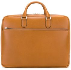 Valextra Double Handle Brief Case - Farfetch Leather Pieces, Timeless Elegance, Boss Lady, Calf Leather, Calves, Women Wear, Handle, Shoe Bag, Bags