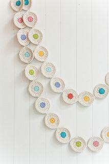 Crochet circle Garland | Flickr - Photo Sharing!