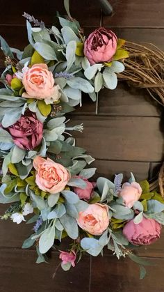 Our gorgeous mixed peony wreaths add the perfect amount of spring charm to your porch. Wreath Crafts, Diy Wreath, Summer Wreath, Spring Wreaths, Christmas Wreaths, Christmas Decorations, Doorway Decorations, Easter Wreaths, Wreaths For Front Door
