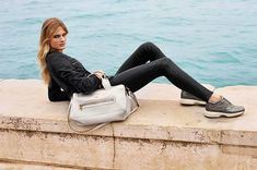 Hogan in Venice--Italian luxury sportswear brand Hogan enlists French model Constance Jablonski for its spring-summer 2014 campaign. The face of Estee Laud