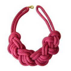 Hot Pink Rope Necklace