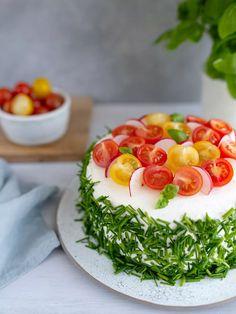 Cute Food, Good Food, Sushi Cake, Sandwich Cake, Appetisers, Savoury Cake, Food Art, Food Inspiration, Cobb Salad