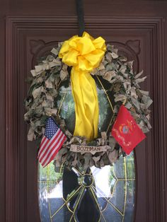 USMC Military Wreath I made for my husband's going away to deployment party ❤️