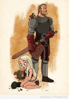 La pequeña Kalessi, sus dragones y su protector.