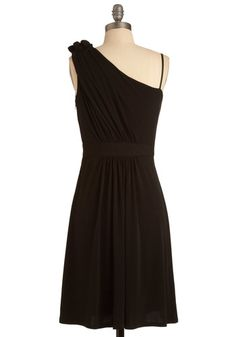 Hibiscus at the Hop Dress in Black