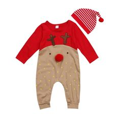 Rudolf Nose Rompe... Get this from our website http://presentbaby.myshopify.com/products/rudolf-nose-romper-set?utm_campaign=social_autopilot&utm_source=pin&utm_medium=pin baby clothes girl, baby clothes boy, baby clothes set, unisex