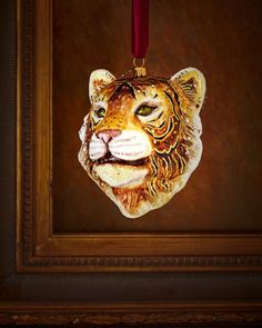 Tiger+Head+Christmas+Ornament+by+Jay+Strongwater+at+Horchow.