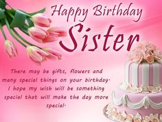 Birthday wishes for sister with images