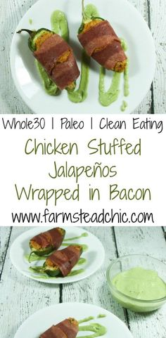 These yummy, HEALTHY bacon-wrapped Paleo & Whole30 Jalapeño Poppers require only 6 ingredients (+S&P)! What are you waiting for??