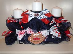 OLE MISS CANDELABRA by college601 on Etsy, $45.00