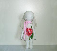 Rabbit inspired by Lalylala White / pink bunny от UAmadeForYou