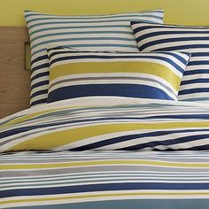 I love these colors: the Gallery Stripe Duvet Cover + Shams on westelm.com