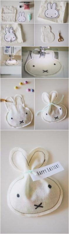 What You Will Need: White Fabric Black Sharpie Black Thread Yarn Pins Miffy/Bunny Print-out (I used this one, HERE) Candy of your choice Sewing Machine (or you can hand sew these) More info and instructions about this great tutorial you can find in the source url - above the photo. diyfuntips.com is a collection of […]