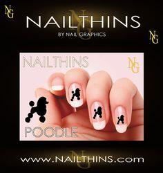 Caniche estándar clavo etiqueta perro etiqueta uñas por NAILTHINS