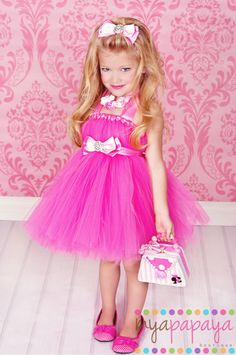 Barbie Costume Tutu Dress 12months5t matching by MyaPapayaBoutique, $69.99