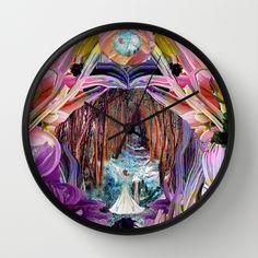 ebbd3057498 Fairy and Unicorn, Fantasy Forest Wall Clock original art by Michele Avanti
