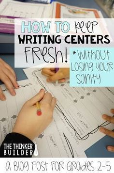 Get lots of great tips for keeping writing centers or stations fresh and engaging all year. (The Thinker Builder)