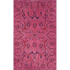 nuLOOM Handmade Persian Overdyed Pink Wool Rug (5' x 8') | Overstock.com Shopping - Great Deals on Nuloom 5x8 - 6x9 Rugs