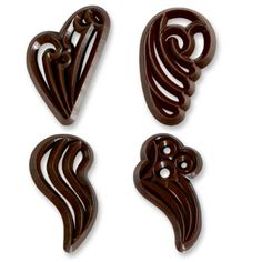chocolate hearts for cake decore   ... Shop   Chocolate filigree, various   buy cake decorations online