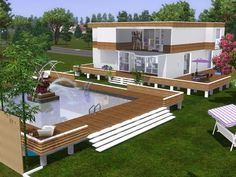 Villa Violet by Maxi Sims - Sims 3 Downloads CC Caboodle