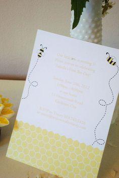 Honey Bee Invitation  DIY Printable Parties by welovecraftyTracey, $16.00