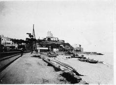 Platja de Sant Pol de Mar ( Barcelona). 1942. Autor desconegut. 27520F MMB