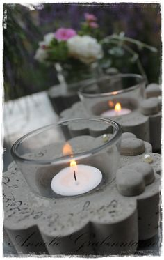 Concrete candle holder! nur Bild