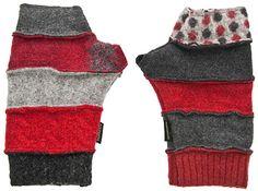 Baabaazuzu Fingerless Glove (Red/Black/Grey)