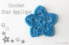 crochet star applique pattern! by www.lovecityblog.com ✿⊱╮http://www.pinterest.com/teretegui/✿⊱╮