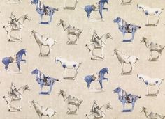 Ancien Tang horses on this beautiful fabric from swedish Sandberg