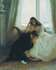 Illustration for Alexander Pushkin's Eugene Onegin by Lidia Timoshenko