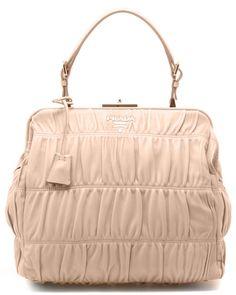 Prada Gaufre Leather Top Handle Bag