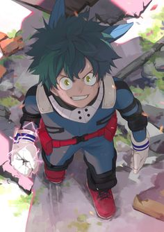 Izuku Midoriya Deku from My Hero Academia Otaku Anime, Manga Anime, Anime Nerd, Anime Guys, Boku No Hero Academia, Super Pouvoirs, Chibi, Fanart, Best Superhero