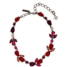 Oscar De La Renta Teardrop crystal-embellished necklace ($990) ❤ liked on Polyvore featuring jewelry, necklaces, oscar de la renta, oscar de la renta necklace and oscar de la renta jewelry