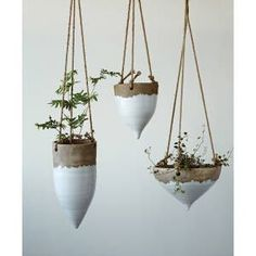Indoor Planters, Diy Planters, Planter Pots, Vertical Planter, Plants Indoor, Air Plants, Tomato Planter, White Planters, Shade Plants