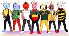 BTS Go go X BT21 au : @1000_color_