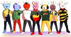 BTS Go go X BT21      au : @1000_color_