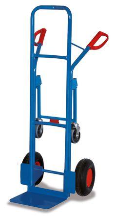 GTARDO.DE:  Stahlrohrkarre, Tragkraft 250 kg, Maße 570 x 586 x 1305 mm, Schaufel 320 x 250 mm, Rad 260 x 85 mm, Höhe 1305 mm 157,00 €